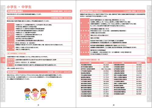 小学生 ・ 中学生(P31~32)